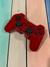 Genuine OEM Sony PlayStation 3 PS3 Sixaxis Dual Shock 3 RED Controller Tested