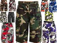 BTL MEN'S CAMOUFLAGE CARGO SHORTS WITH BELT 10 COLOR SIZE 32~56