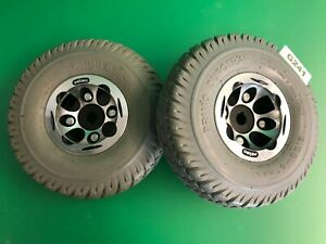 """3.00-4 (10""""x3"""") Flat Free Drive Wheel Assy for Invacare Pronto Powerchairs #G241"""