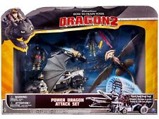 DreamWorks HTTYD 2: POWER DRAGON ATTACK SET (TOOTHLESS CLOUDJUMPER HICCUP DRAGO)