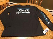 Philadelphia Eagles NFL Men's Black Graphic Long Sleeve Shirt, Size 2XL - NWT
