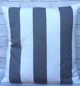 "Ikea Sofia Grey and White Stripe Cushion Cover 16"" 18"" 20"" 22"" 24"" inch"