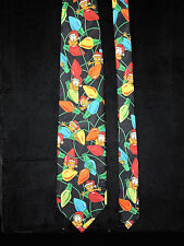 Paws Addiction Garfield Mens Neck Tie Christmas Lights Hat Black Blue Red Green