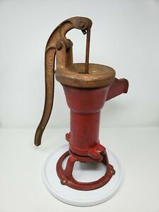 Antique Dempster Water Well Pump 21P Cast Red Landscaping Decor