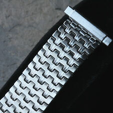 Steel ribbon link 1960s/70s vintage watch band 16mm to 21mm ends 5 sold already