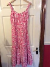 Gerard Size 12 Pink And White Linen Style Sundress €5