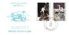 Apollo 11 20th Anniversary Congo First Day Cover 2 Stamps (Sc#C398-399)