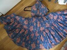 TRUE VINTAGE 60'S HAWAIIAN PRINT HALTER DRESS TIERED S/XS FULL CIRCLE!