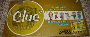 Clue Detective Board Game Replacement Parts & Pieces 1950 Parker Brothers