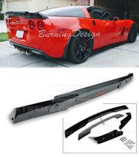 GLOSSY BLACK 05-13 Corvette C6 Rear Spoiler C6.5 style Dark Tinted Wickerbill