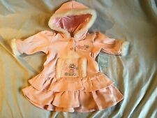 DISNEY BABY ARISTOCATS MARIE Dress Pastel Pink & White Faux Fur 3-6 Months NWT