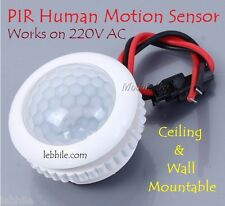 E127 PIR Motion Sensor Ceiling Wall Mountable Light Control Switch for 220V AC