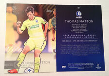 2016 Topps UEFA Champions League 5x7 GOLD (#/10 Made) THOMAS MATTON #191 Gent