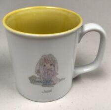 Vintage 1987 Precious Moments June Bride Coffee/Tea Mug Yellow Inside
