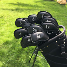 Usship Set Of 12Pcs Black Craftsman Golf Iron Wedge Headcovers Covers Protectors