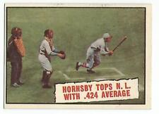 ROGERS HORNSBY 1961 Topps Baseball card #404 St Louis Cardinals EX+/NR MT
