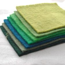 "Handmade 100% Wool Felt Fabric - 5mm Thick - 15cm / 6"" Square Sheets Bundle"