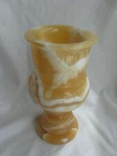 """Egyptian Alabaster Stone Candle Holder Large 8.5""""#37"""