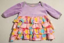 NWT Little Miss Matched Purple Velour Pink Dot MisMatched Dress, 0-3 mos.