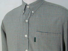 PAUL SMITH Gray Green Blue Plaid Check Shirt Size L Large