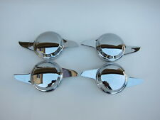 Lowrider hydraulics knock offs 2 curved bars, dome shape, chrome, for wire wheel