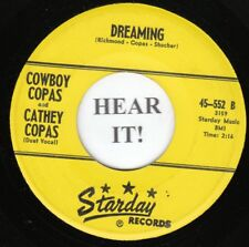 Cowboy Copas/Cathey Copas HLLBLLY BOPPER 45-Starday 552-Dreaming/Sunny Tennessee