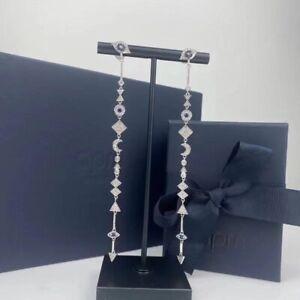 Auth Apm Monaco SYMBOLE Lucky Eye And Symbols Drop Earrings - Silver A$286