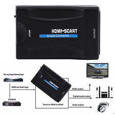 1080P MHL HDMI to SCART Video Converter AV CVBS Signal Scaler for STB DVD TV ZE