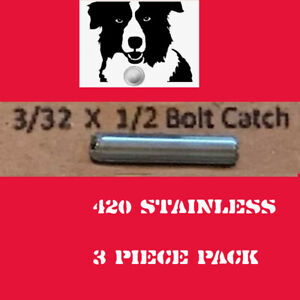 """3x HARDEST SS 420 SPIRAL COILED ROLL PINS, 3/32"""" X 1/2"""" MADE IN THE USA"""