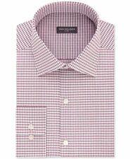 New $95 Van Heusen 18 36/37 Men's Regular-Fit White Red Flex-Collar Dress Shirt