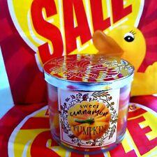 NEW Bath & Body Works Sweet Cinnamon Pumpkin 3-Wick Candle 14.5 oz