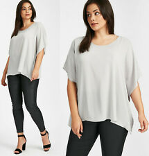 EVANS New Womens Sparkle Cape Top Blouse Plus Size in Grey