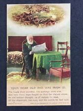 Vintage Postcard: Military Song Card #A110 : Your Dear Old Dad Was Irish (3)