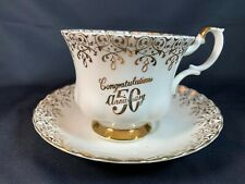 Royal Albert England Gold 50th Anniversary - Bone China Tea Cup & Saucer- A6
