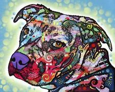 New! Bulls Eye by Dean Russo Animal Art Dog Style Print Home Wall Decor 807859