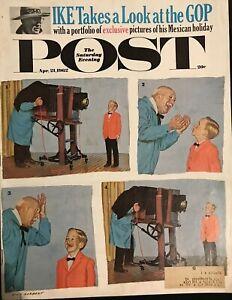 APRIL 1962 SATURDAY EVENING POST MAGAZINE CHILD PHOTOGRAPHY ART EISENHOWER IKE