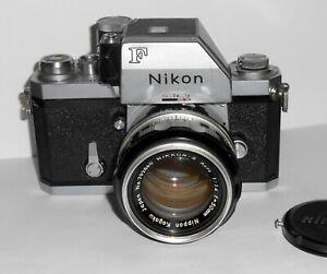 Vintage NIKON F PHOTOMIC W/ NIKKOR S Auto  1:1.4 50MM Lens - Made In Japan