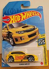 2021 HOT WHEELS SUBARU WRX STI #68- HW Speed Graphics 2/10 Yellow - NIP in USA