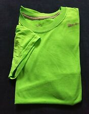 NIKE DRI-FIT Men Short Sleeve T Shirt Tee Sz Small Polyester Lime Green Good