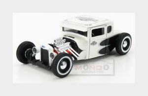 Ford Model-A Custom Harley Davidson 1929 White Pearl Met MAISTO 1:24 MI31354WH M