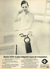 B- Publicité Advertising 1970 Etiquetteuse Etiquettes Dymo 1470
