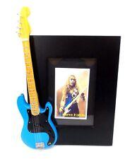 Steve Harris Miniature Bass Guitar Picture Frame Iron Maiden Collectible