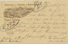 SCHWEIZ 1899 5C GA-Postkarte m Privaten Zudruck Fabrique de Savons & Parfumerie