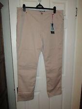 New Per Una Ladies Stone Casual Trousers  Size 24