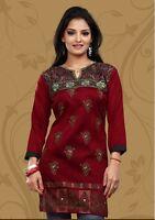 Indian Designer Crepe Silk tops blouse Kurtis-Tunics for Women with Foil Print