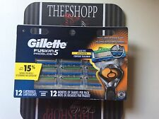 Gillette Fusion5 ProGlide Razor Cartridges 12 ct Pack *NEW* + FREE SHIPPING