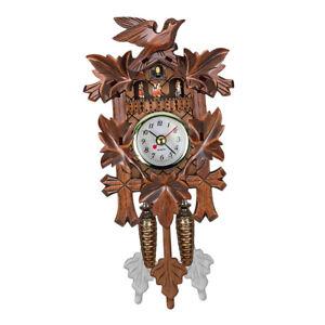 Vintage Cuckoo Clock Creative Art Wall Hanging Clock Alarm Home Decor Gift