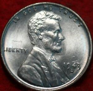 Uncirculated 1943-D Denver Mint Steel Lincoln Wheat Cent