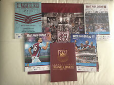 West Ham United Football Programmes - Last Upton Park & First Olympic Stadium