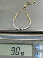 "white and yellow Gold 5-9"" long Stretch Diamond Bracelet For vs1 14k"